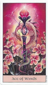 crystal visions tarot ace of wands