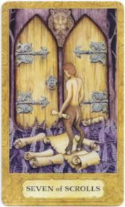 chrysalis tarot seven scrolls card