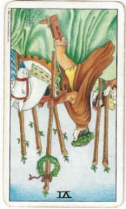rider-waite tarot six wands card reversed