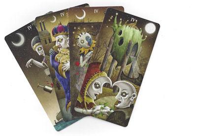 deviant moon tarot four cards