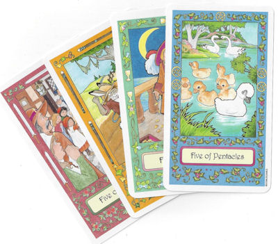 whimsical tarot five cards